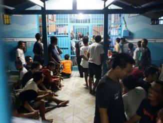 Suasana salah satu blok di dalam Lapas Kerobokan. Foto diambil sebelum pandemi. (Kanal Bali/Ni Komang Erviani)